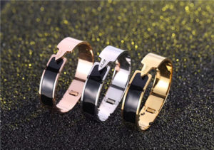 wide womens stainless steel bangles-620001