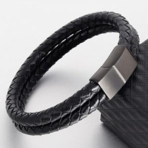 Double Leather Rope Braided Bracelet For Men Women