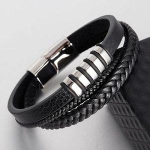 Multi-layer Braided Leather Bracelets For Men Women-11