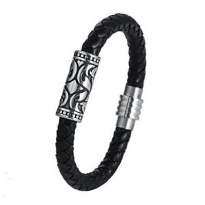 Womens Leather Bracelets Magnetic Clasp