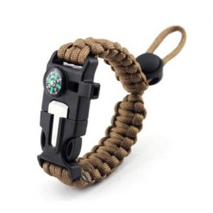 Paracord Outdoor Survival Bracelet Camping Hiking Gear with Compass