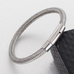 Men's Charm Titanium Wire Bracelet