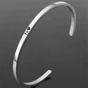 Inspirational Cuff Stainless Steel Bracelets