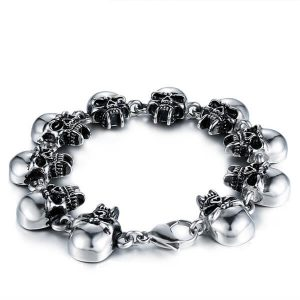 titanium steel bracelet skull