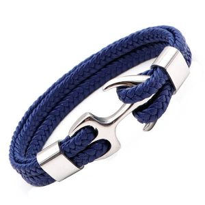Anchor Leather Bracelets for men & women