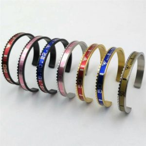 Elegant Womens Stainless Steel Cuff Bangles