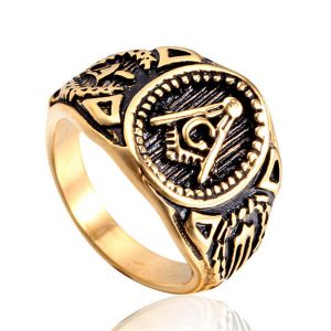 Classic men's rings stainless steel