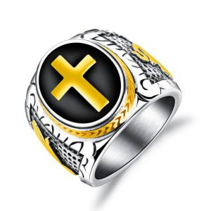 christian cross ring