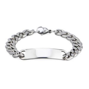 Men's Engraved ID Bracelet with Name