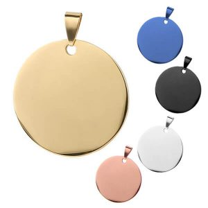 Stainless Steel Round Shape Pet ID Tag