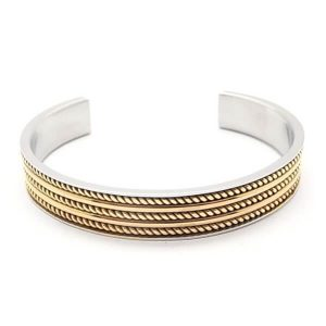 Stainless Steel Cuff Bangle Chain Decoration