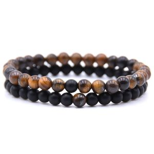 6MM Natural Stone set Bracelet Distance Bracelet