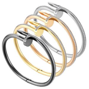 Nail Bangle Bracelet - Stainless Steel