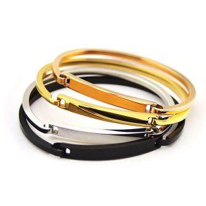 Stainless Steel Bar Bracelet