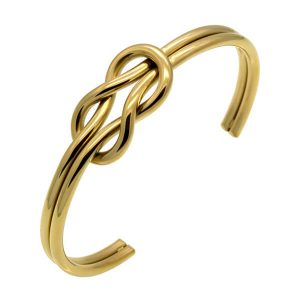 Stainless steel knotted bracelet for women