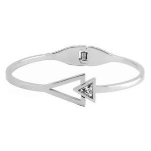 stainless steel womens bangle spring bracelet